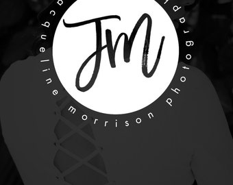 SALE Circle Logo with Initials, Photography Logo Design, Initials Logo, Calligraphy Initials, Fashion Blog, Real Estate Branding - JM3