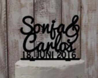 Cake topper Names-Wedding accessoires, wedding cake, wedding, cake figure