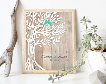 Personalized Wedding Gift Newly Weds Family Tree Art Engagement Anniversary Gifts