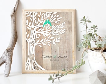 Personalized Wedding Gift, Newly Weds Gift Family Tree Art, Engagement Gift, Anniversary Gifts, Engagement Gift for Couple, Anniversary Gift