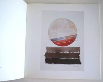 Watercolors Exhibition Catalogue Eugenio Carmi 1994, italian artist, abstract art book