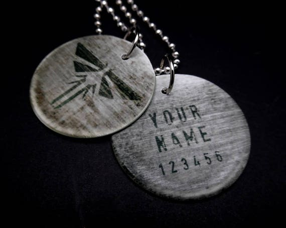 Customizable the last of us firefly dog tags like this item aloadofball Image collections
