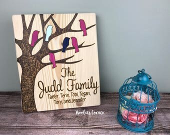 Family sign, Mothers Day gift, Gift for mom, Custom family sign, Wood family tree, Custom family tree, Personalized family sign, Wood sign