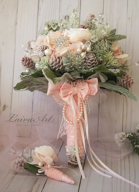 alternative wedding bouquet winter wedding bouquet alternative bridal bouquet blush pink 1272