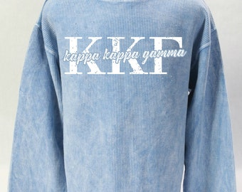 Kappa Kappa Gamma Corded Sweatshirt