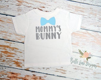 Toddler Boy's Mommy's Bunny Easter Toddler Tshirt | Toddler Easter | Children Boy Easter Outfit | Easter Outfit for Toddler Boy | 246