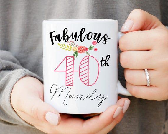 Fabulous 40, 40th Birthday Mug, Custom Coffee Mug, 40th Birthday Gift, Funny Birthday Mug, Birthday Gift, Custom Birthday