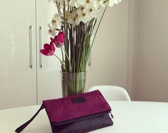 Clutch bag | Clutch purse | Oversized purple clutch | Recycled clutch | Evening bag | Luxurious clutch | Leather clutch