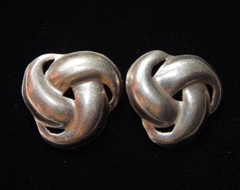 Vintage Sterling Silver Earrings TF-43 Mexico  925  Pierced Stud Sterling Silver Taxco Earrings