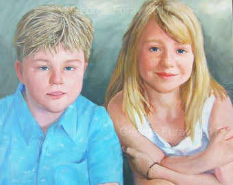 Custom Portrait  oil painting for love,Personalized Painting Canvas Painting From photo Child Family Wedding Portraits