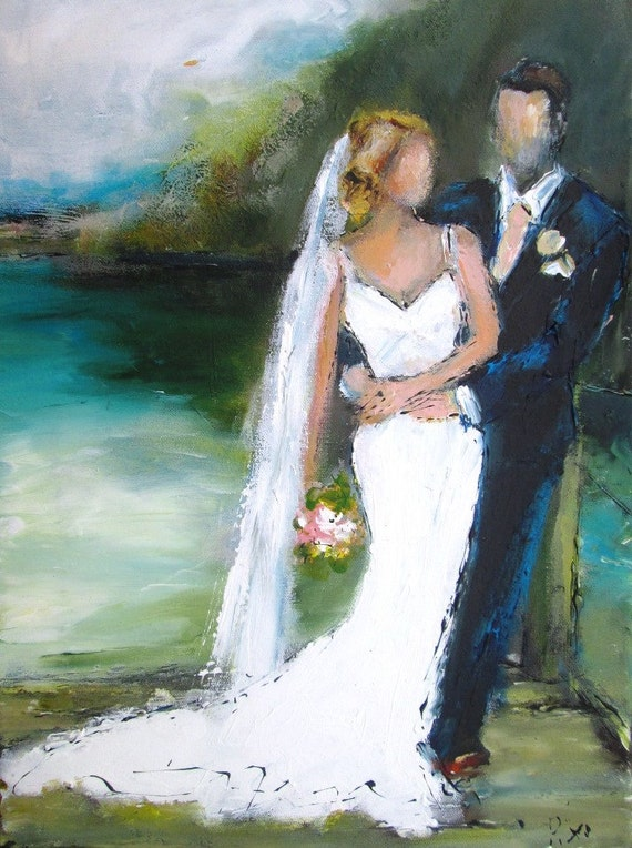 Custom wedding paintings from your photosideal and