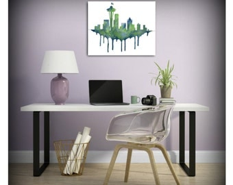 Seattle Skyline/ 12s / Seattle Seahawks inspired print