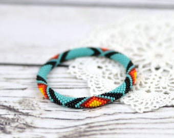 Turquoise bracelet everyday bracelet ethnic jewelry tribal bracelet friendship bracelet beaded bracelet for women bracelet gift for wife