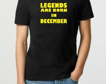 "Legends Are Born In ""Month"" T-shirt, Funny Tshirt, Sarcastic Shirt, Ladies Tshirt, Mens T-Shirt, funny tee, Geekery Gift, Personalized Gift"