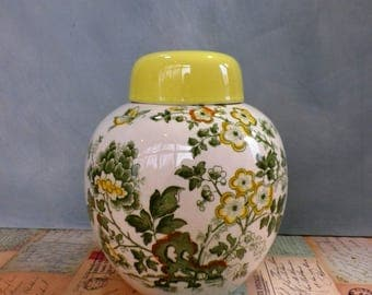 Large Vintage Masons Ginger Jar lidded jar  pottery jar Mason's ironstone Jar 'Manchu'