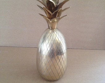 Vintage Brass Pineapple, From 1970s, Iconic Symbol of Hospitality, Hollywood Regency In Style, Not A Container, Display Object, Candleholder