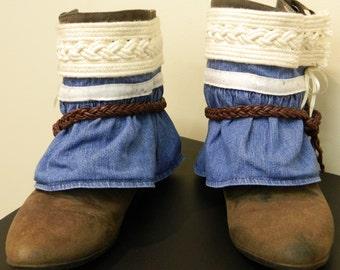 Denim & Braid Boot Cuffs