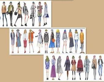 Fashion girls washi tape