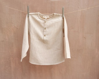 Baby Boy's Organic Cotton Shirt in Natural Dyes