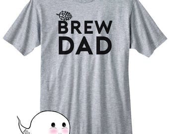 Fathers Day Gift Idea Homebrew Shirt Brew Dad T-Shirt T Shirt Tee Hops Craft Beer Homebrewing Home Brew Beer Making Brewed Husband Mens