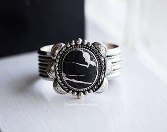 Sterling Silver White Buffalo Cuff Bracelet, Large Cuff, Chunky Cuff, Southwestern Cuff, Native American Inspired, Ready To Ship!