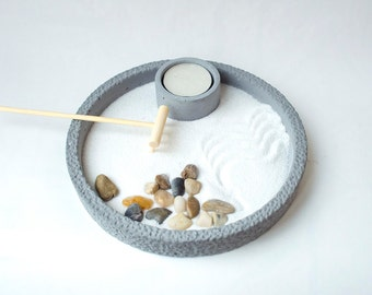 Zen Garden/ Yoga Gifts/ Mini Zen Garden/ Office Decor for Women/ Gift for Her/ DIY kit/ DIY/ Yoga Decor/ Zen Decor/ Meditation/ Zen
