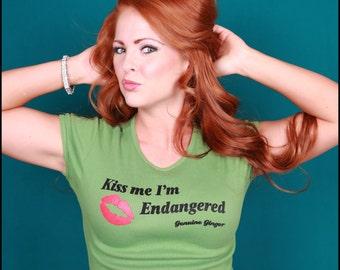 Kiss me I'm endangered Ginger Girl Redhead tee