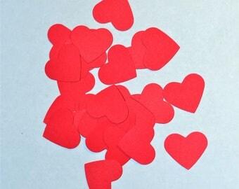 Red Heart Confetti - Large Red Heart Confetti - Red Confetti - Heart Confetti - Large Heart Confetti - Red Wedding Confetti - Red Party