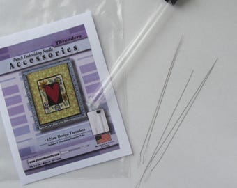 Punch Needle CTR Threaders - PunchNeedle Threader - Miniature Punch Embroidery Threaders - CTR Needle Works - Needle Punch Threader
