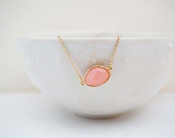 Pink and Gold Gem Bracelet