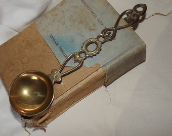 Large Brass Love Spoon Vintage Collectible 24cms
