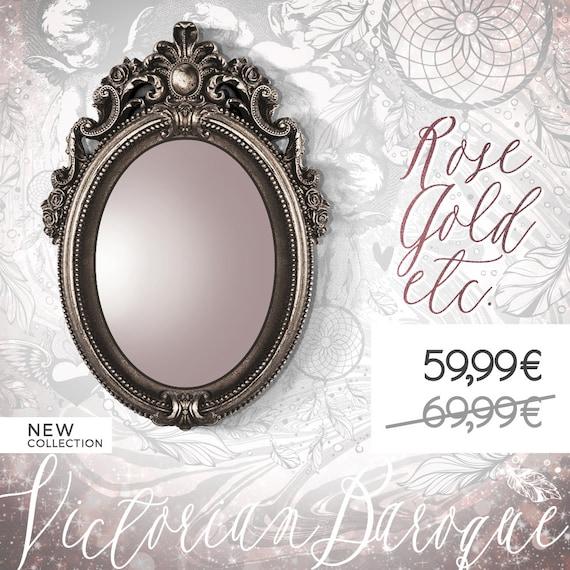 miroir baroque bronze style vintage miroir par leboudoirparis. Black Bedroom Furniture Sets. Home Design Ideas