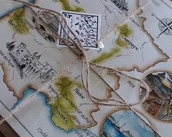 Bespoke hand-drawn life map