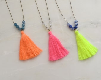 Neon Tassel Necklace (Anjuna Neon Tassel Necklace)