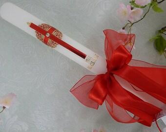 Lambada candle - Lambatha candle - Christening candle - baptism candle - communion candle - personalised candles - Christening gifts