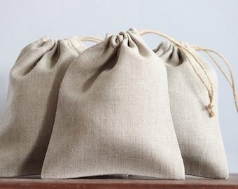50 Natural Linen Bags | Bulk Packaging | Wedding Gifts | Jewellery Packaging