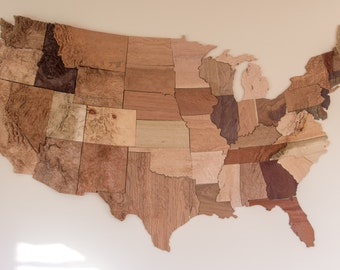 United States Wall Art wooden topographic map of any united states state 3d relief