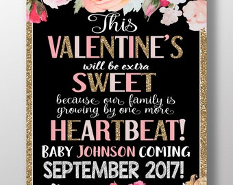 valentines day pregnancy announcement valentines pregnancy announcement valentines sweet were growing by