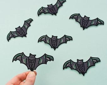 Bat Iron On Patch / Bat Patch / Bat Embroidered Patch / Cute Patch / Animal Patch / Halloween Patch / Bats / Vampire Bat / Bat Gift