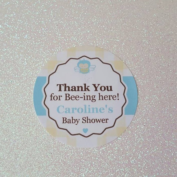 Thank You For Bee Ing Here Baby Shower STICKERS Bumble