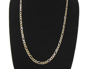 Vintage Estate .925 Sterling Silver Gold Tone Chain Necklace Made in Italy 8.8g E983