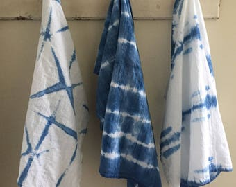 Shibori Flour Sack Tea Towels