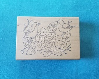 Great Impressions - Birds and Flowers - Rubber Stamp