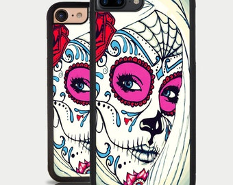 Iphone 7 Plus Sugar Skull Iphone 7 Case The Day of the Dead Skull Tattoo Iphone 6 Plus Iphone 6 Case Iphone 5C Case Iphone SE Case Iphone 5