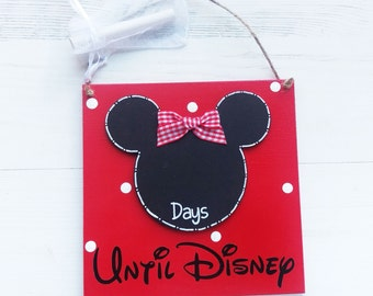 Disney countdown, Holiday countdown, Disney trip, Disney vacation, Disney sign, gift for daughter, Disney Gifts