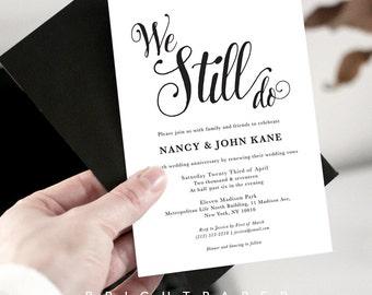 We still Do Vow Renewal Invitation, Vow renewal Invite, Wedding renewal Invitation Card, We still do, Digital Printable VR_005