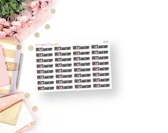 MATTE Grey's Anatomy Planner Stickers (TV)
