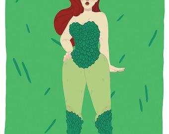 "8x10"" Poison Ivy Print"