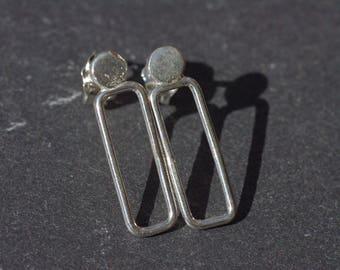 Silver Ear Posts, Sterling Silver Earrings Ear Post Earrings Modern Ear Posts Dainty Silver Earrings Edgy Post Earrings Geometric Earrings