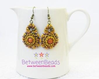 Dangle Earrings, Fashion Jewellery Earrings, Pearl Earrings, Earrings for Women, Costume Jewelry, Wedding Jewelry, Yellow Mustard, Hawaiian